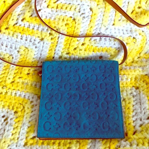 Celine Handbags - Celine suede shoulder wallet